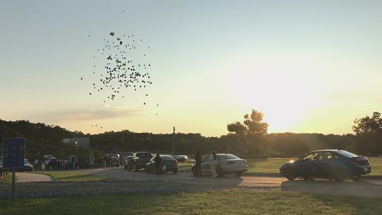 Family, friends of Mount Tabor student killed in school shooting release balloons in his memory