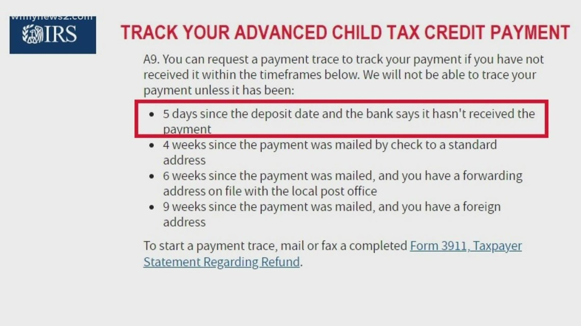 Where is your Child Tax Credit payment?