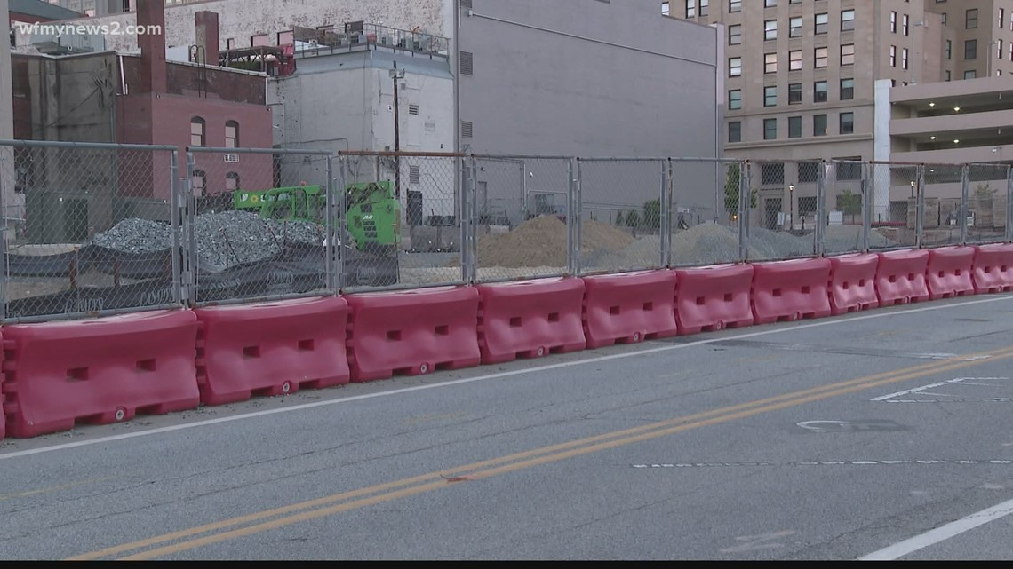 Construction restarts on parking deck, Westin Hotel in Downtown Greensboro