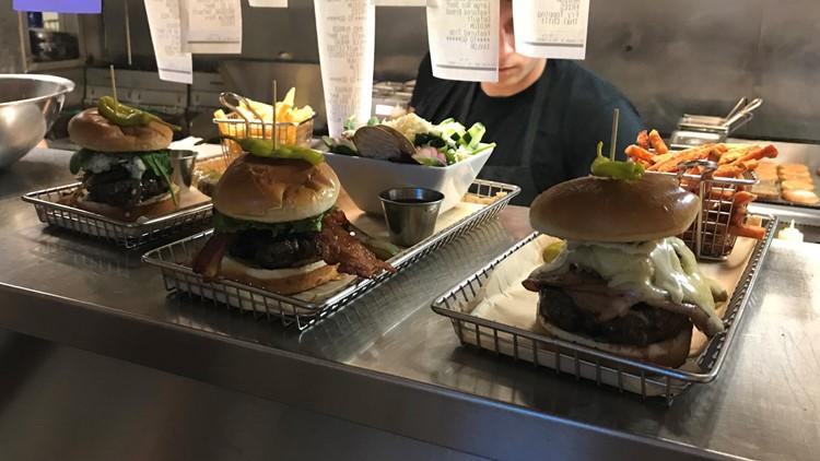 Hops Burger Bar kitchen