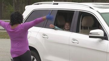 Teachers reconnect to kids through 'drive-thru'
