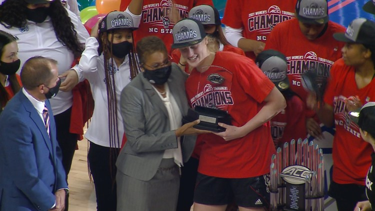 NC State beats Louisville 58-56 for ACC title!!!