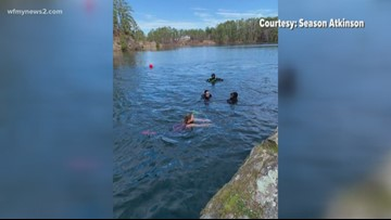North Carolinians take the polar plunge in Wendell to celebrate the New Year