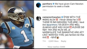 'You forced me into this' | Cam Newton says Panthers pushed him into trade talks