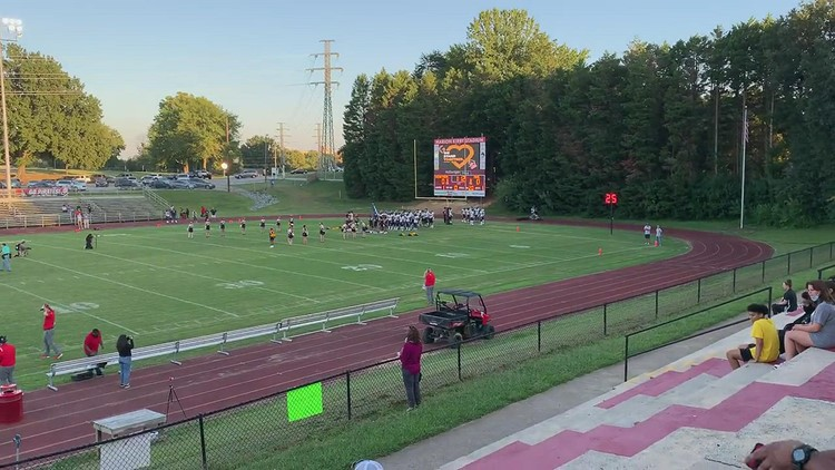 Moment of silence held at Page High game against Mount Tabor following deadly school shooting in Winston-Salem