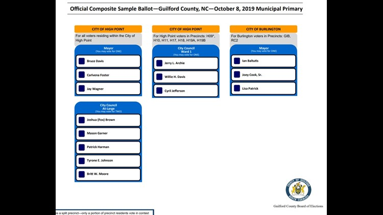 October Primary Sample Ballot