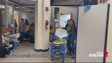 Local teacher gets a surprise from Burlington Goodwill as an honored customer