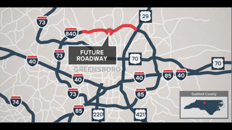 Nighttime road closures scheduled for Urban Loop project in Greensboro