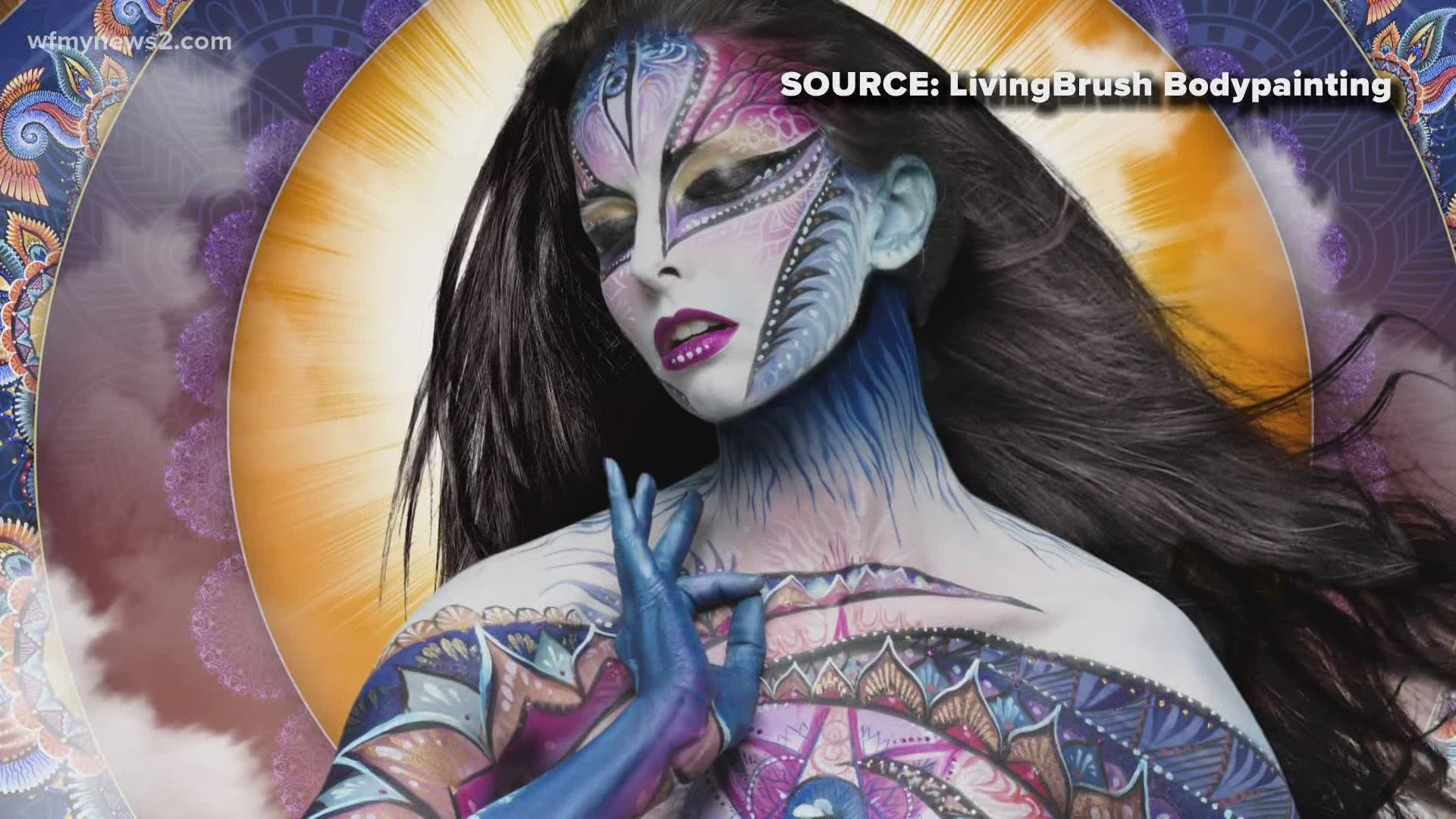Champion Body Painting Artist To Broadcast From Reidsville Wfmynews2 Com
