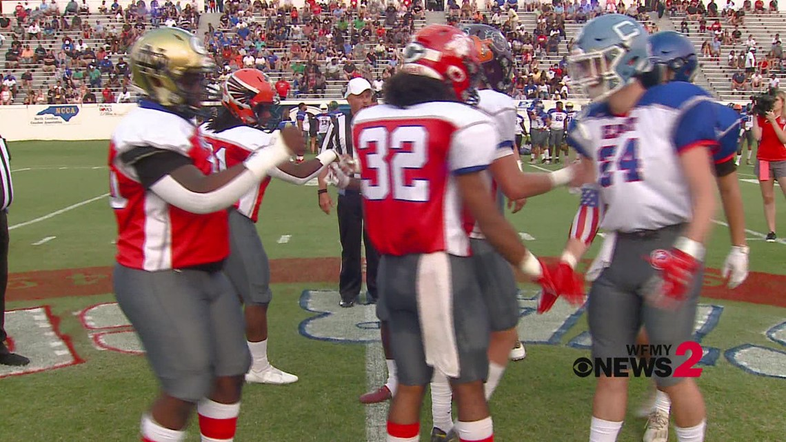 East-West All-Star Football Game First Half Highlights