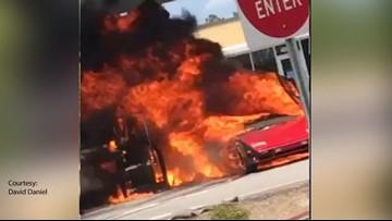 Lamborghini, SUV Go Up In Flames At NC Walmart Gas Station