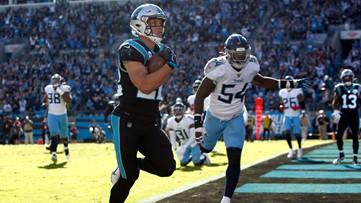 McCaffrey Scores 3 TDs As Panthers Defeat Titans 30-20