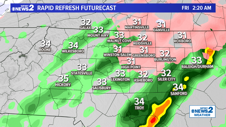 Thursday Weather Ice Storm Moves Into Triad Wfmynews2 Com