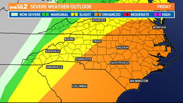 HEADS UP: Severe Storms Possible Friday With Damaging Winds, Isolated Tornado