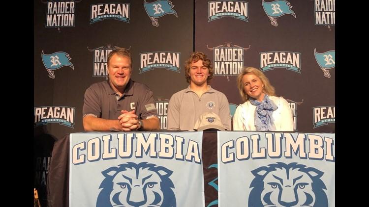 Reagan HS Quarterback Gabriel Hollingsworth signs with Columbia