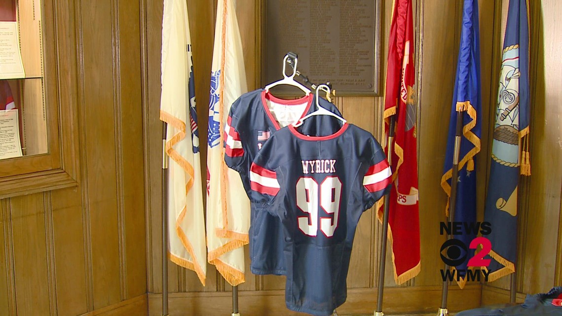 Grimsley football players to wear WWII jerseys at game to honor 99 fallen alumni