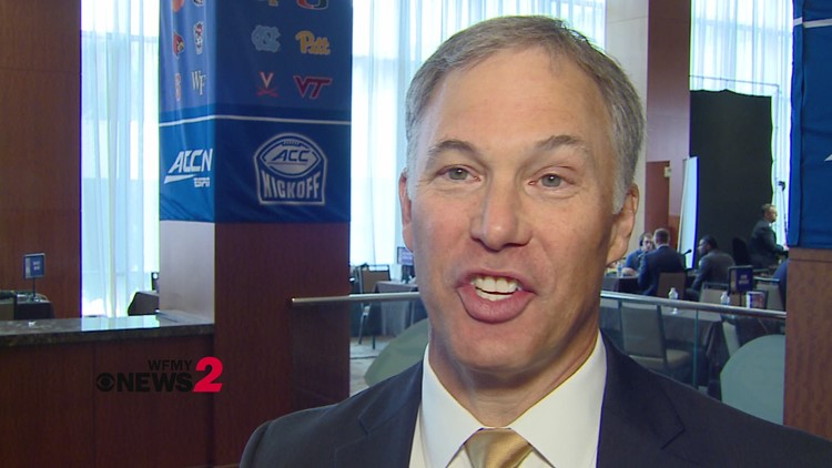 Talking Football with Wake Forest Head Coach Dave Clawson at ACC Kickoff