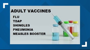 Adults, you need these 5 vaccines.