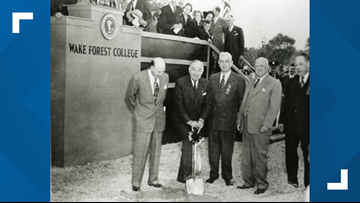 October 15, 1951: Wake Forest Broke Ground on New Campus in Winston-Salem
