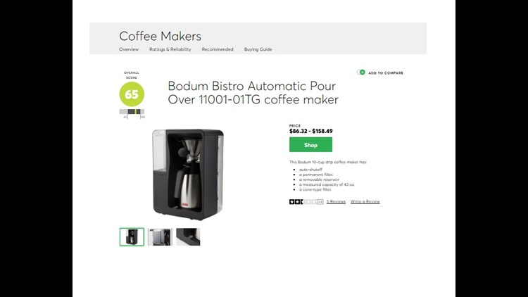 Consumer Reports Fastest Brewing Coffee maker