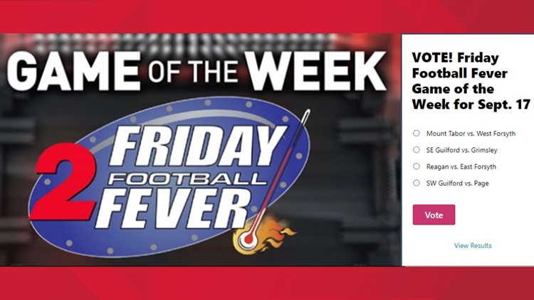 SW Guilford vs. Page voted in as Friday Football Fever Game of the Week for Sept. 17