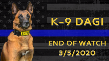 Forsyth County Sheriff's Office pay final respects to K9 Dagi