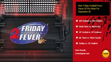 Ballot: Pick Your Friday Football Fever Game Of The Week For September 20