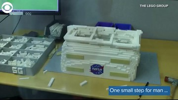 30,000 LEGO Blocks Used To Build Life-Size Model Of Astronaut