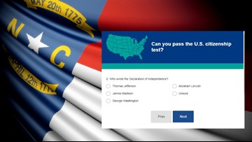 Most North Carolinians, Americans Couldn't Pass a U.S. Citizenship Test, Study Suggests