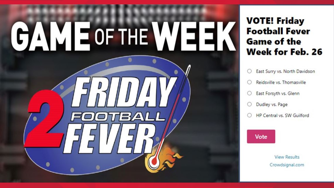 Vote: Friday Football Fever Game of the Week for Feb. 26