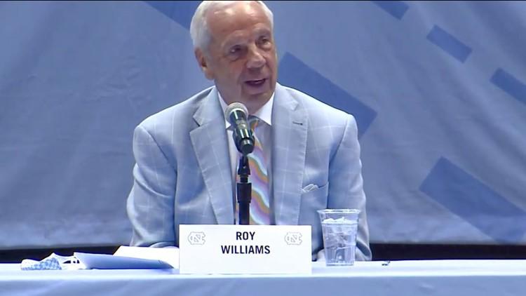 UNC's men's basketball coach Roy Williams announces his retirement