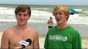 Brothers React to Shark Bite at Ocean Isle Beach
