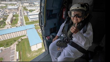 Navy takes flight, gives widow a 100th birthday to remember