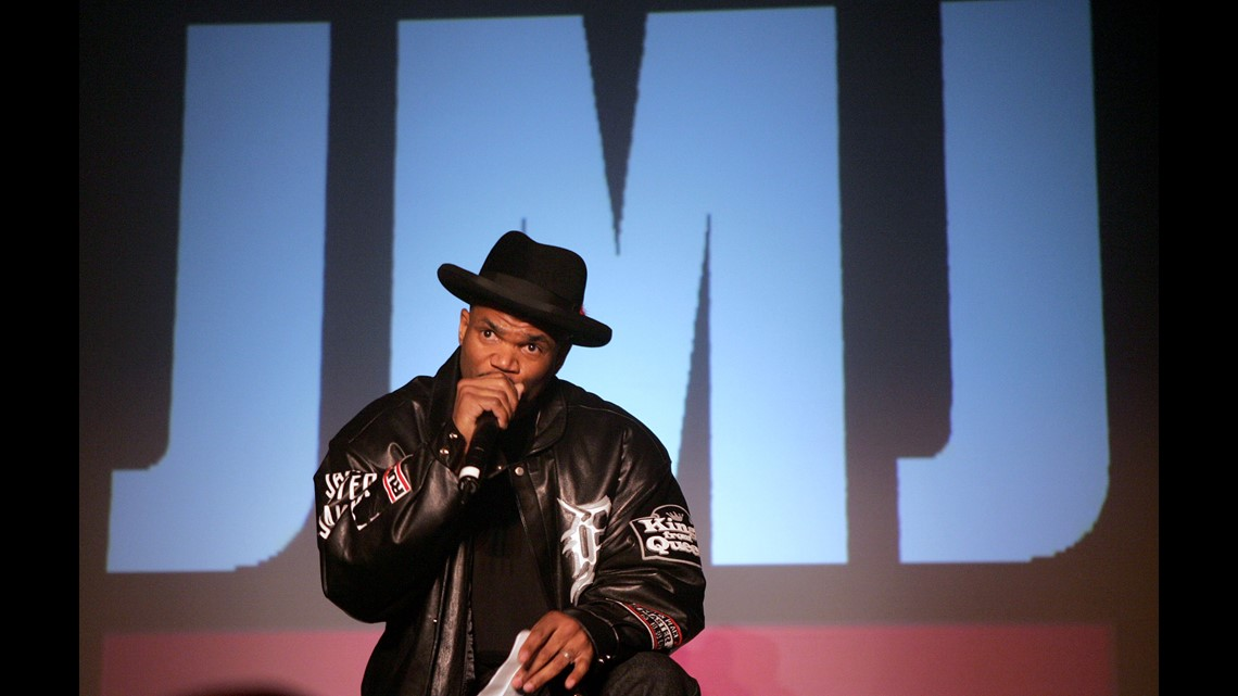 d6e1a9843 ... Jay during the 35th anniversary of the Addidas superstar sneaker  honoring the life of Jam Master Jay at Skylight Studios on February 25,  2005 in NY.