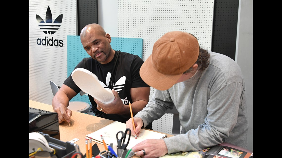 27d72060e Darryl McDaniels, 'DMC' (L) at Maker Lab at adidas Creates 747 Warehouse  St. - an event in basketball culture on February 17, 2018 in Los Angeles,  ...