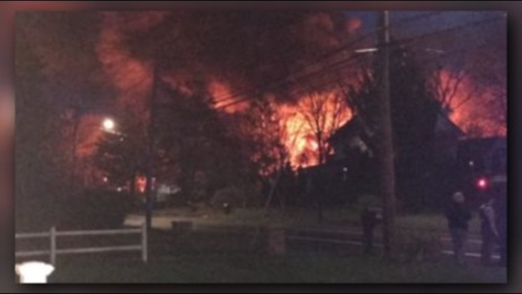 House explodes while police on scene