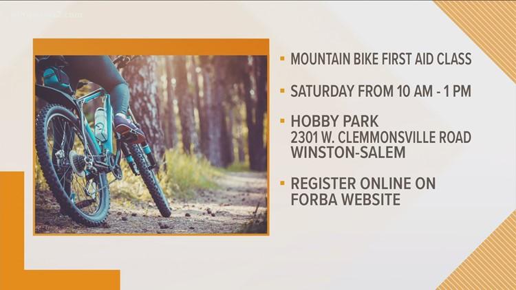 Wake Forest Baptist Health Hosts Mountain Bike First Aid Class