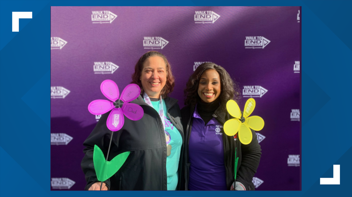Tracey McCain Emcee's the Greensboro Walk to End Alzheimer's