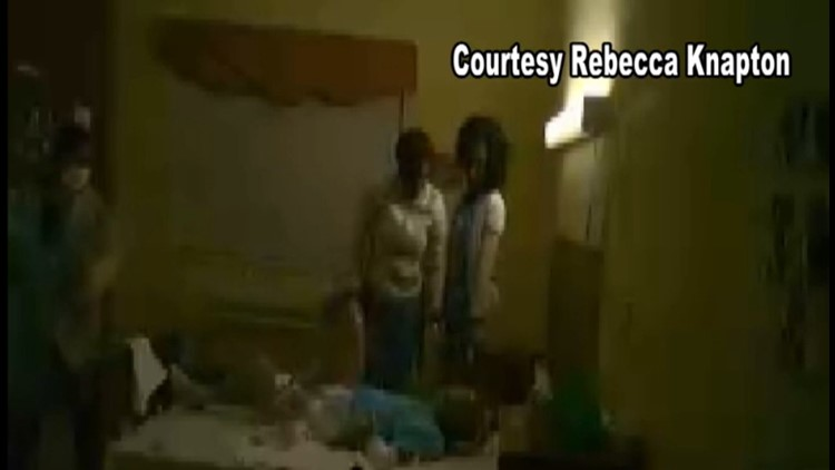 Rebecca Knapton put a camera in her father's room after he said the nurses were abusing him.