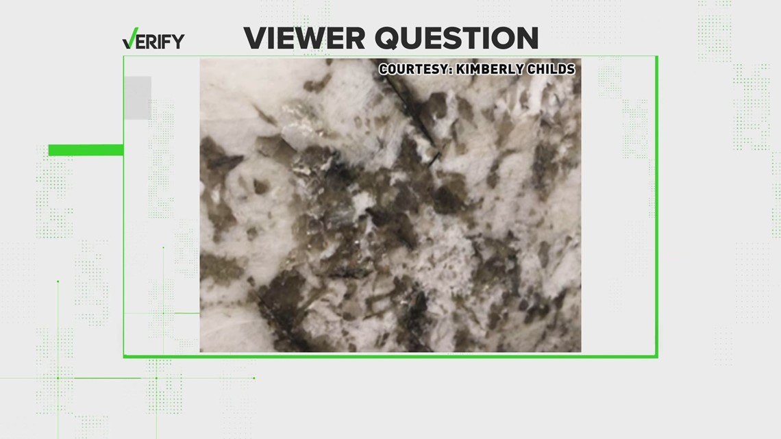 VERIFY: Your granite countertop isn't 'diseased,' but here's why it might look that way