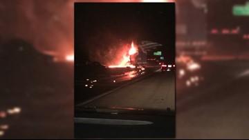 1 Dead in Fiery Crash on I-85 North Near Salisbury