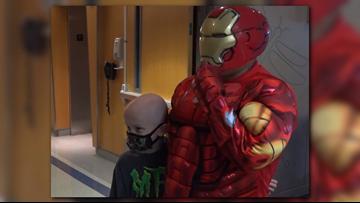 PHOTOS| Superheroes Visit Brenner Children's Hospital In