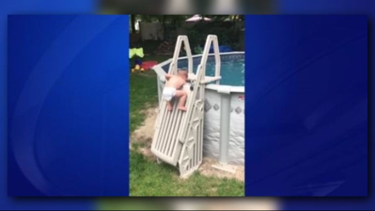 MA couple warning parents after toddler climbs 'un-climbable' pool ladder
