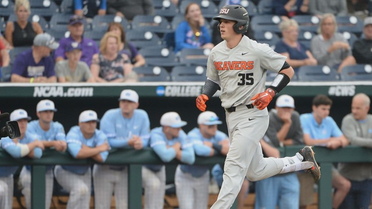 The Beavers scored eight unanswered runs in the eighth and ninth innings to rally and beat the Tar Heels Wednesday.