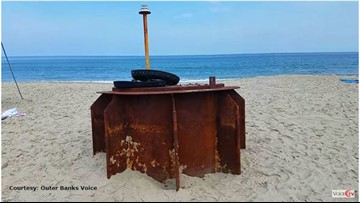 What Is This? Mysterious Metal Object Washes Ashore at NC