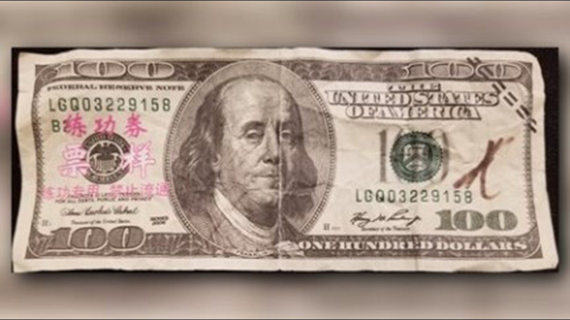 Antique Money – What Is That Strange Mark On My $100 Bill?