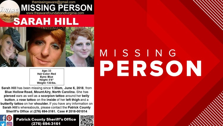 Sarah Hill Missing Person Poster