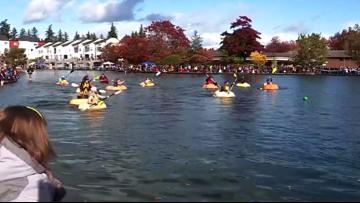 The Great Floating Pumpkin Regatta in Oregon