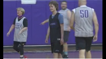 Johnny Van Kemp Takes The Court Three Weeks After Beating Cancer Three Times