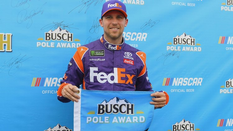 Hamlin went 202.794 mph in Friday's session to win a pole for the second consecutive week.